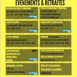 Evènements et retraites 2017/18